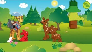 #Мультики для малышей Приключения кролика Флаффи и жирафа Нейки в лесу. лего дупло lego duplo forest