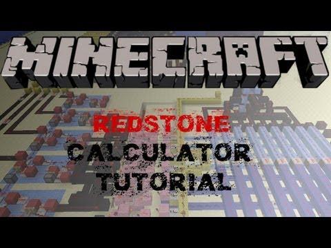 Minecraft Tutorial: HOW TO BUILD A REDSTONE CALCULATOR (1.6+ / 1.7+) - Vanilla Minecraft Tutorial