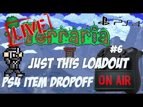 Just This Loadout - Terraria Playstation Item Dropoff Giveaways Livestream #6