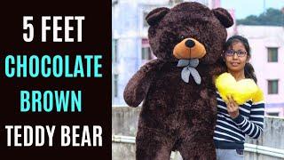5 Feet Teddy Bear Unboxing Brown Teddy Bear Unboxing Giant Teddy Bear Chocolate Brown Teddy