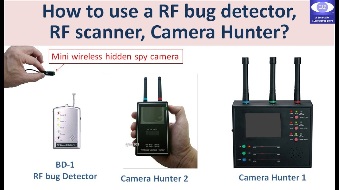 How to use a RF Bug detector, Camera Hunter, RF Video Scanner to find a  Hidden SPY Camera