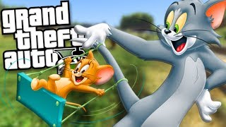 TOM AND JERRY BECOME FRIENDS MOD (GTA 5 Mods Gameplay)
