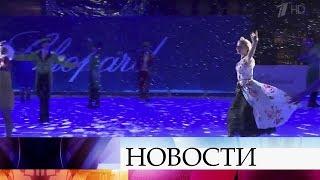 Олимпийская чемпионка в танцах на льду Т.Навка представила фрагмент нового шоу «Аленький цветочек».