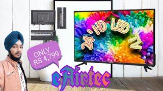 eAirtec 61 cm (24 inches) HD Ready LED TV 24DJ (Black) (202eAirtec 61 c0 Model) Unboxing video