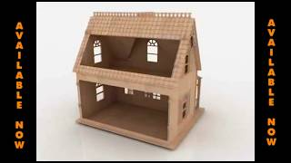 Doll House 3d Puzzle Laser Cutting Pattern Cnc