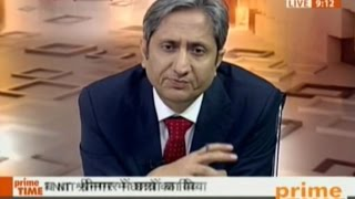 NDTV Ravish Kumar prime time report on #NITKashmir,BJP - PDP responsible 4 beating up students