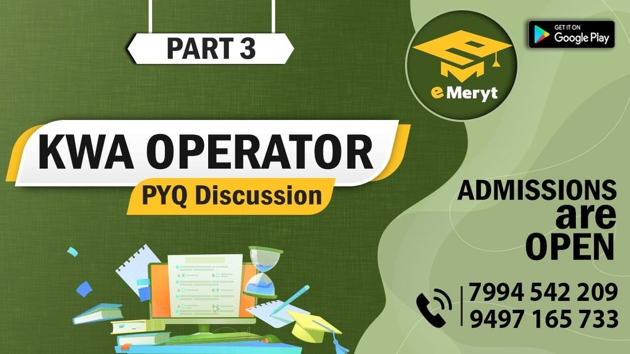 Download KWA OPERATOR 2015 Question Paper Discussion Part 3