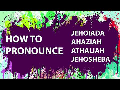 How To Pronounce Bible Names: Your Questions #2