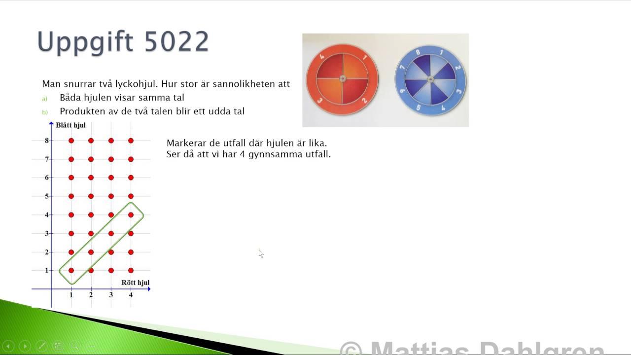 Matematik 1b   Sammanfattning   Kapitel 5   Sannolikhet och statistik