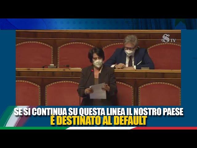 La Senatrice Petrenga interviene in discussione generale sulle misure urgenti  di sostegno