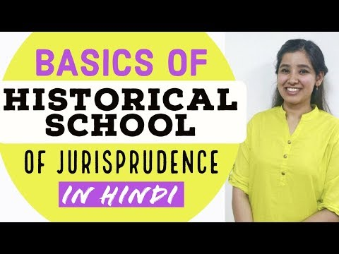 Basics of Historical School of Jurisprudence | Jurisprudence in Hindi