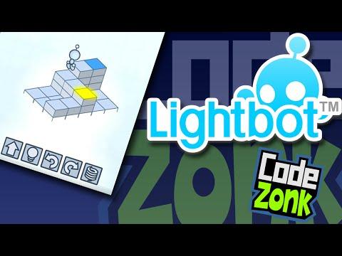 Lightbot on iPad - Level 1 - Teaching Kids to Code