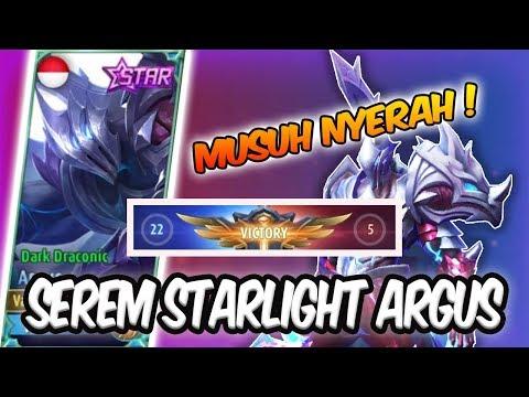 SKIN STARLIGHT ARGUS BIKIN MUSUH NYERAH !! 💪 - MOBILE LEGENDS INDONESIA #12