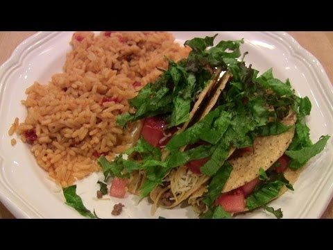 Quick &  Easy Beef Tacos w/Spanish Rice