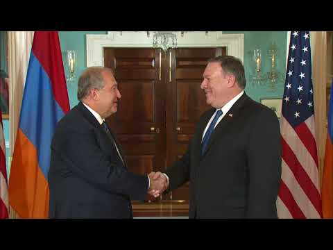 Secretary Pompeo Meets with Armenian President Armen Sarkissian