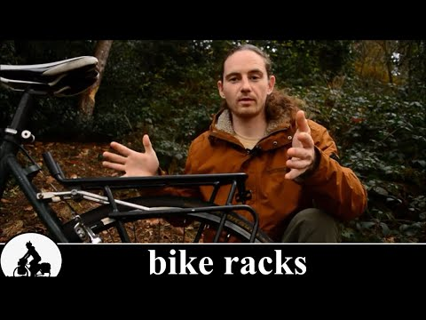 a touring bike is born - bicycle racks