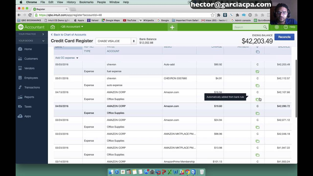 QuickBooks Online 2017 Tutorial: BANK FEEDS part 3 - Auto-Add Transactions  / Advanced Bank Feeds
