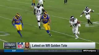 Patriots & Steelers interested in golden Tate