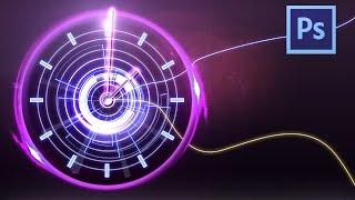 Абстрактные часы в Photoshop cs6.