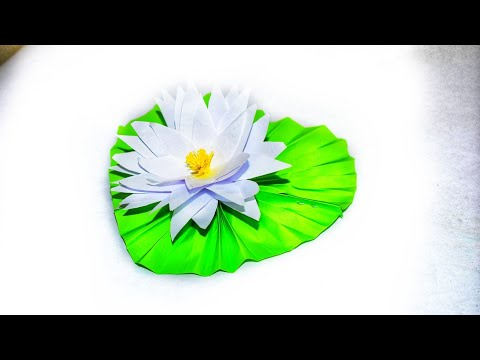 Origami water Lily|Diy paper water Lily|Origami crafts|Stop Motion Lover