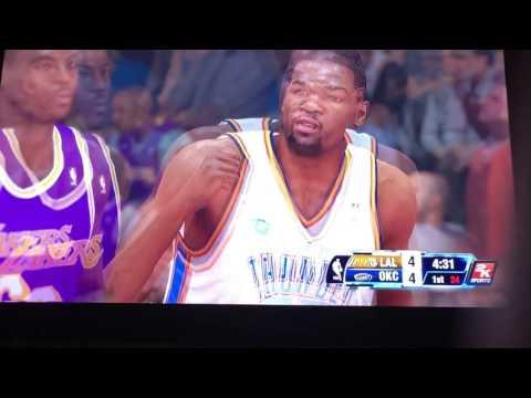 NBA OKC Vr Lakers
