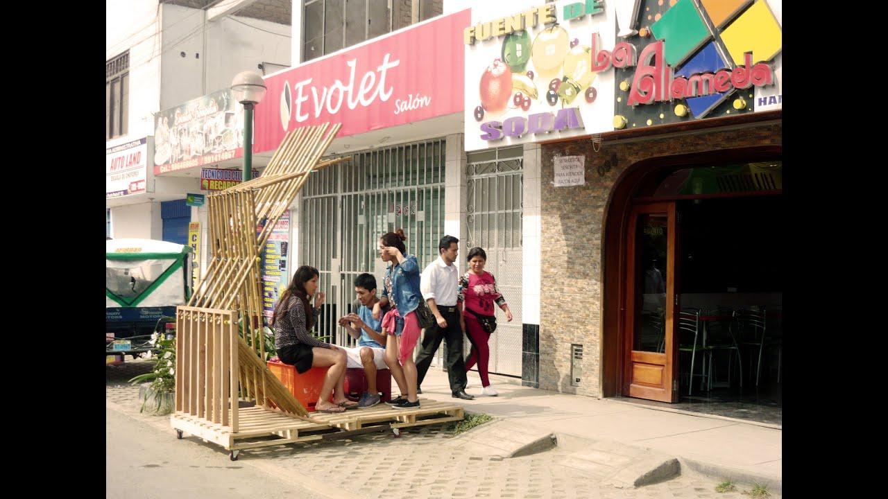 Mobiliario urbano itinerante y sostenible youtube for Mobiliario urbano caracteristicas