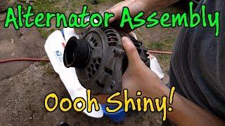 Subaru Alternator Assembly, Painting Shiny Black Parts