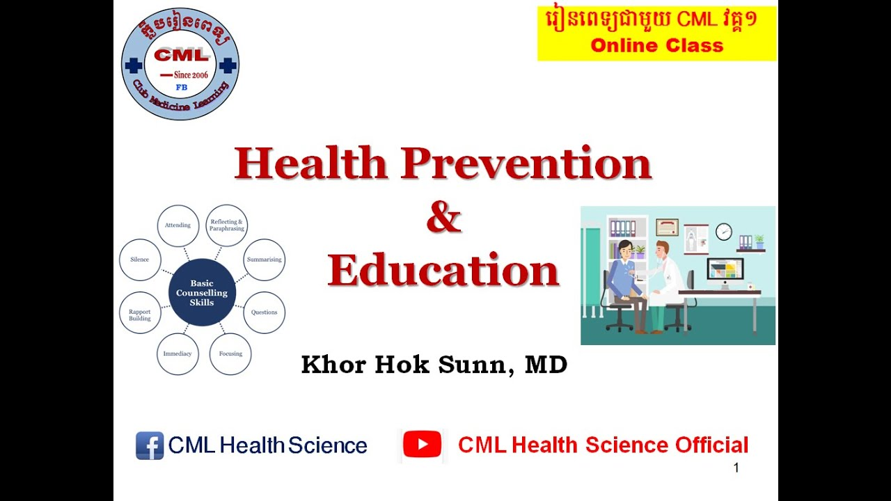 Health Prevention and Education l CML Health Science Official