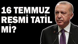 Erdoğan'dan Bayram Tatili Açıklaması