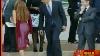 obama and sarkozy checking out girl s butt
