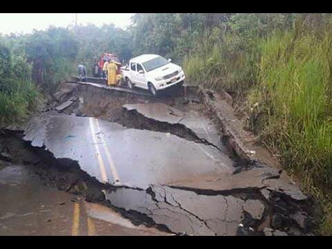 Vía entre Amagá y Fredonia desapareció por antigua falla geológica I Noticias Caracol