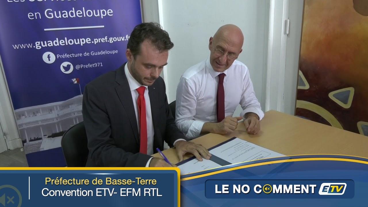 NO COMMENT ETV signature de contrat ETV - EFM RTL avec la prefecture