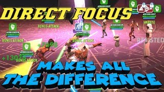 Direct Focus in Mirror matches:  After Video  star wars galaxy of heroes swgoh