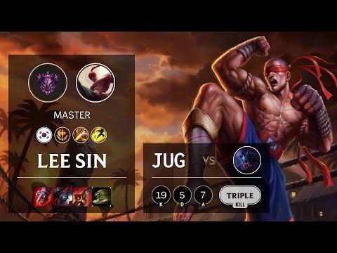 Lee Sin Jungle vs Rek'Sai - KR Master Patch 10.10