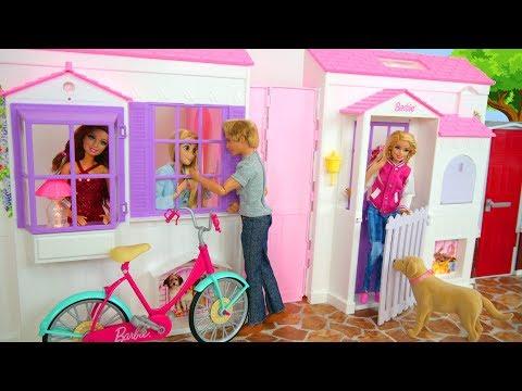 Barbie Folding Pretty House Unboxing Faltbar Puppenhaus Maison de Barbie pliable Rumah boneka