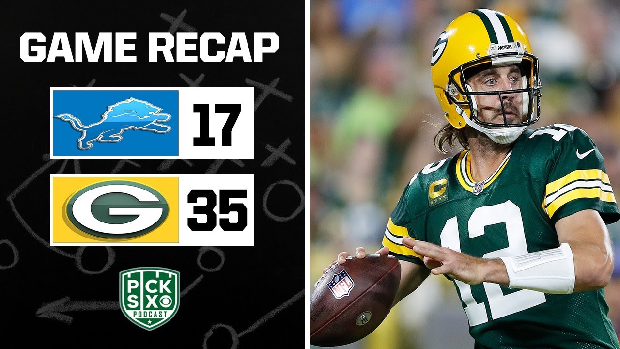 Download PACKERS BEAT LIONS GAME RECAP I AARON RODGERS IS FINE I WEEK 2 MONDAY NIGHT FOOTBALL REACTION