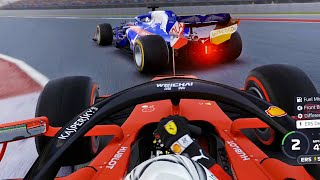 AWKWARD SAFETY CAR CAUSES CHAOS & ACTION LATE ON! - F1 2019 Veloce Squad Sprint S2