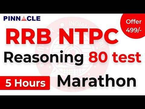 RRB NTPC Reasoning 80 test Marathon I Maha Practice
