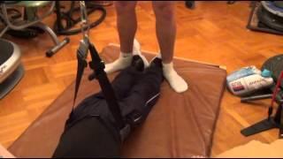 14 Блочный тренажер лежа на спине2  ЛФК для инвалидов(Универсальная система реабилитации всех видов паралича (вследствие нейротравм: ЧМТ, травм позвоночника..., 2013-05-22T20:12:13.000Z)