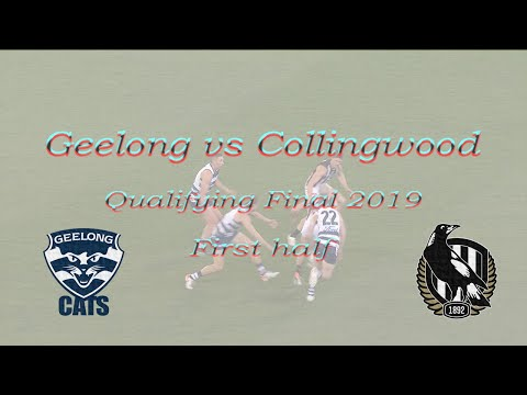 Geelong Vs Collingwood All Goals And Highlights FIRST HALF | Qualifying Final 2019