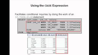 Oracle SQL Video Tutorial 26 - CASE Statements