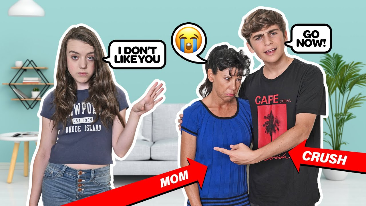Being MEAN To My CRUSH In Front Of His Mom To See How She Reacts **PRANK**🤣😡  Symonne Harrison