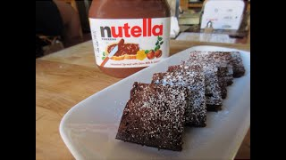 How To Make 3 Ingredient Nutella Brownies