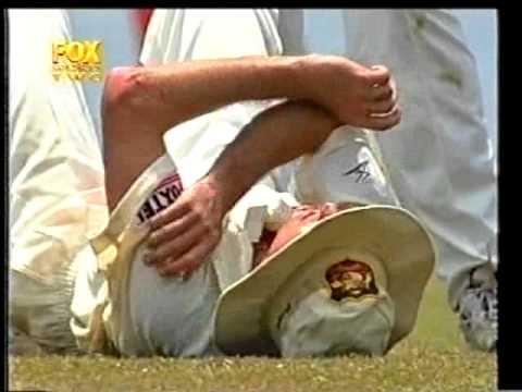 Steve Waugh BROKEN NOSE INCIDENT vs Sri Lanka 1st test 1999