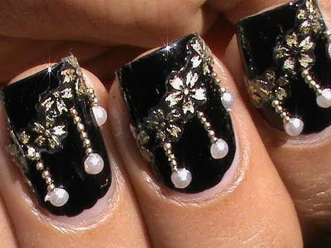 Pearls Nail Designs - Hanging Pearls ! ❤ Pearls Nail Designs - YouTube