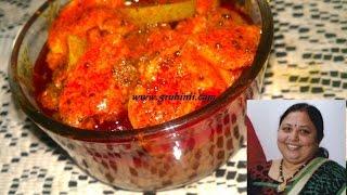 Mango Pickle With Ginger Garlic Paste/allam Vellulli Avakaya