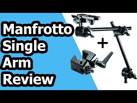 Manfrotto Single Articulated Arm 2 Section with Camera Bracket + Super Clamp Review + Setup Tutorial