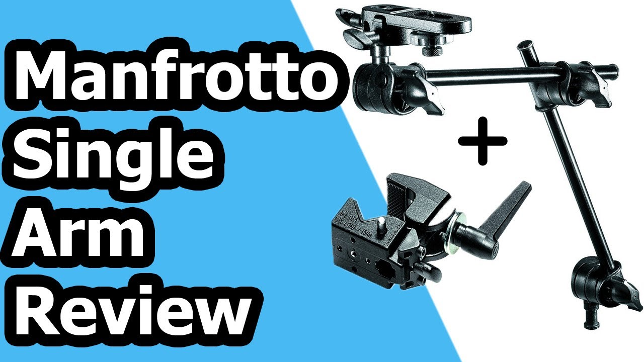 Black Manfrotto 196B-2 143BKT 2-Section Single Articulated Arm with Camera Bracket