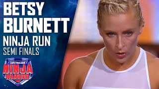Ninja run: Betsy Burnett (Semi Final) | Australian Ninja Warrior 2018
