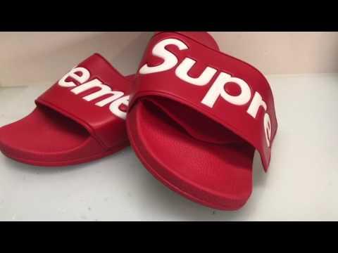 Supreme Slides Re Glued - YouTube